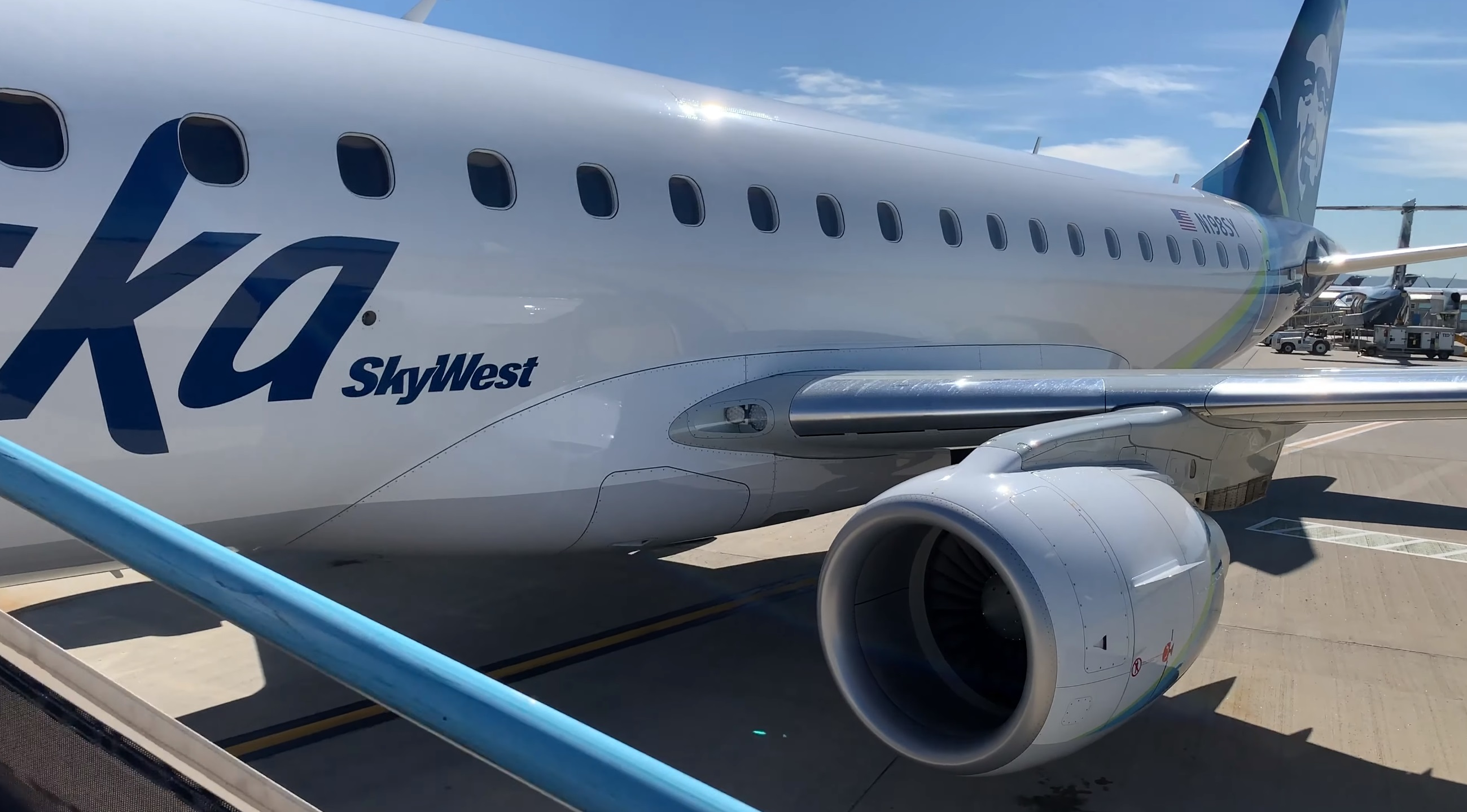 Alaska Airlines by SkyWest – Boise to Seattle on an Embraer 175